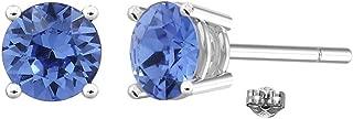 Swarovski Earrings, GLIMMERING Birthstone Swarovski Stud Earrings for Women, Swarovski Crystal Earring Studs with Certificate and Warranty, Hypoallergenic Stud Earrings
