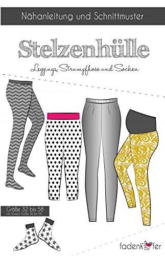 Schnittmuster Fadenkäfer Stelzenhülle Leggings & Strumpfhose Erwachsene inkl. Socken