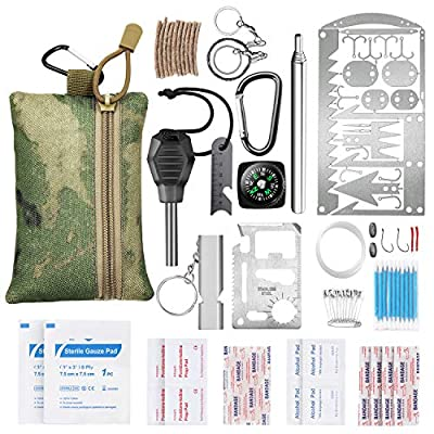 GTOMIPO Gifts for Men Dad Fathers Day, Emergency Survival Gear Kit SOS Earthquake Aid Equipment Tools, Fishing Hunting Birthday Gifts Ideas for Him Boyfriend Teen Boy, Cool Gadget Stocking Stuffer by GTOMIPO
