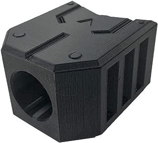 Goshfun Silencer Square Muffler Compatible with NERF CS-6 LONGSTRIKE, Foam Darts Blaster Barrel Decorative Cap, B Type Black