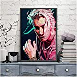 DNJKSA Edgy Justin Bieber Giclee Poster Print Music Singer Rap Poster Wall Art Painting Canvas Painting   Home Decor -50x75cm Sin Marco