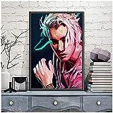 DNJKSA Edgy Justin Bieber Giclee Poster Print Music Singer Rap Poster Wall Art Painting Canvas PaintingHome Decor -50x75cm Sin Marco