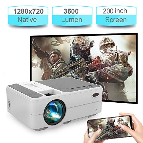 Wireless Mini Projector for Smartphone 3500 Lumen Portable LCD Projector Support 1080P iOS/Android Cell Phone 720P Home Cinema Video Projectors HDMI Compatible with TV Stick PS4 DVD
