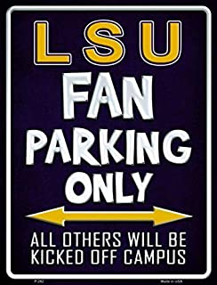Losea LSU Vintage Signs Metal Tin Sign for Wall Decor Art,12x8 Inches