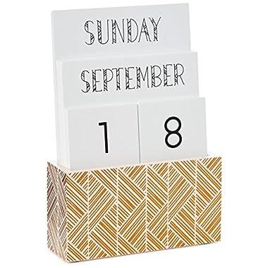 Hallmark Geometric Desktop Perpetual Calendar