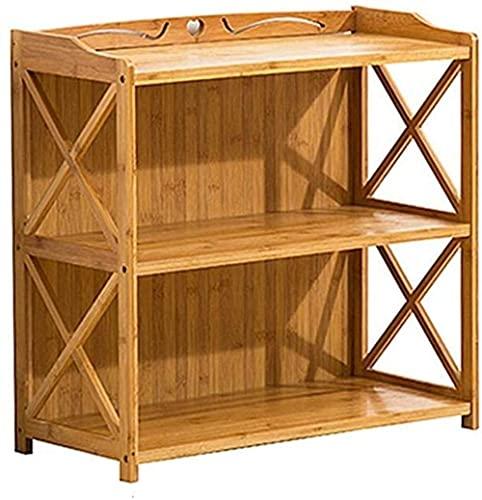 HTL Mueble de mesa de mesa de mesa de mesa de mesa, gabinete lateral de té, estante de té de madera, mesa de té, mesa a lado de la mesa,2 capas-52cm