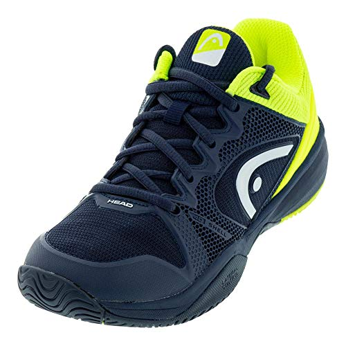 Head Revolt Pro 2.5 Junior, Unisex-Kinder Tennisschuhe, Blau (Dark Blue/Neon Yellow Dbny), 33 EU (1 UK)