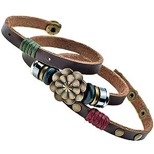 MultilayerbLotus Flower Snap Button Wrap Bracelet 6