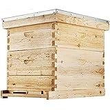 Happybuy Bee Hive 20 Frame Beehive Box 10 Deep and 10 Medium Frames...