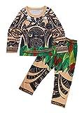 CHICTRY Pijama Niños Niñas Conjunto Verano Divertido Disfraces Maui Vaianas Bebes Niños Camiseta Pantalon Ropa de Dormir Algodón Sauve Regalo Fiesta Manga Larga 4-5Años