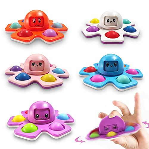 5 Pcs Fidget Spinner Octopus Face-Changing Octopus Pop Toy Spinner...