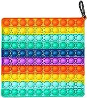 MAKACTUA Pop Up Toys Fidget Sensory Toy Rainbow,Soft Silicone Push on it 100pcs Popping Bubble Sensory Fidget for Stress...