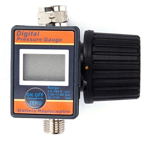 LEMATEC Druckluft-Regler mit Manometer Druckeinstellung Druckregulierung Druckminderer Ersatz
