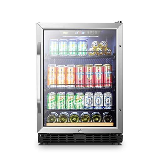 Lanbo Beverage Refrigerator, 148 Cans 6 Bottles Built-in Compressor Drink Cooler