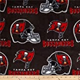 Fabric Traditions NFL Fleece Tampa Bay Buccaneers Black Fabric By The Yard