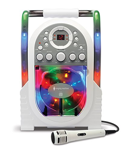 Singing Machine Portable Vertical Load CDG Player with Disco Effect,...