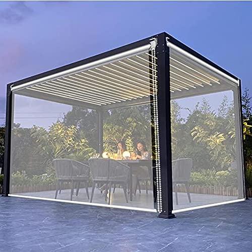 XIAOLIN PVC Transparenter Balkon Rollos, Groß PVC Wasserdichter Vorhang Löscht Für Das Outdoor-Pergola-Büro (Color : Clear, Size : 70x100cm/27.5'x39.4')