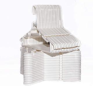 Highliving ® - Juego de 36 perchas de plástico para guardería, antideslizantes, color blanco