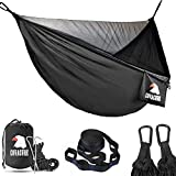 COVACURE Camping Hammock with Mosquito Net - Ultra-lightweight Outdoor Travel Hammocks for Camping