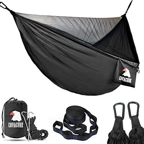 511Fb4E5RYL Ultra-lightweight Hammock with Mosquito Net  (2 Person, up to 350 kg)