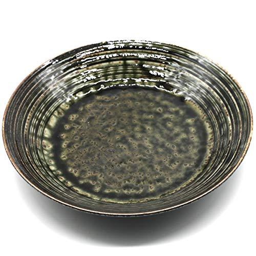 美濃焼 大皿 21.0cm 和皿 皿 緑皿 スレート おしゃれ 電子レンジ対応 《紡 TSUMUGU》ヌクラシリーズ 126-0803