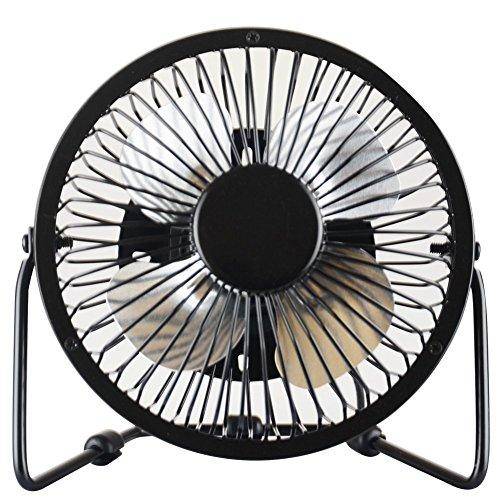 Cimostar Mini USB Desk Cooler Fan,(Metal Design, Large Air Flow, Quiet Operation), Black