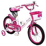 Actionbikes Kinderfahrrad Daisy - 16 Zoll – V-Break Bremse vorne - Stützräder - Luftbereifung - Ab 4-7 Jahren - Jungen & Mädchen – Kinder Fahrrad – Laufrad - BMX – Kinderrad (16`Zoll) - 4