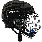 TronX Comp Hockey Helmet Combo (Black - Large)