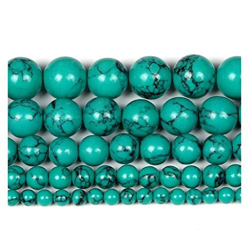 ZITENG CGBH Perlas de Piedra Natural Agates Tiger Ojo Amazonita Cuarzo Redondo Perlas Sueltas para joyería Que Hace Encanto para Pulseras Collares (Color : H7153, Talla : 6mm About 63Pcs)