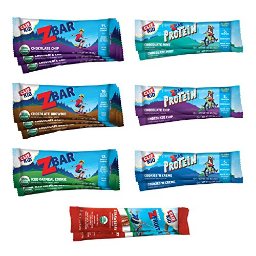 Clif Kid  Organic Granola Bars – Variety Pack  Gluten Free  Organic  NonGMO  Lunch Box Snacks 127 Ounce Energy Bars 16 Count Assortment May Vary
