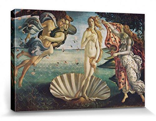 1art1 Sandro Botticelli - El Nacimiento De Venus, 1483-1485 Cuadro, Lienzo Montado sobre Bastidor (120 x 80cm)