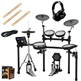 Roland PK TD-25K-S Electronic Drum Set Package with Gemini DJX-07 Headphones, 3 Pairs of Sticks, Aux Cable, and Free Mobile Holder