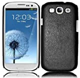 Samsung Galaxy S3 i9300 SGH-i747 PC Leather Case - Black