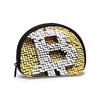 小銭入れ ミニ財布 コインケース 小さい財布 人気 おしゃれ ビットコイン 半円型 多機能 カード入れ 手持ち レディース メンズ