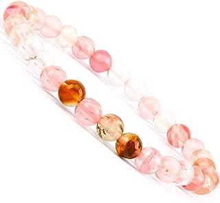 Gemstone Bracelets Natural Gemstone Birthstone Handmade Healing Power Crystal Beads Elastic Stretch 7.5