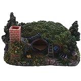 Didad DecoracióN de Acuario Casa PequeeA Cueva Adecuada para Ocultar Reptiles Cueva Casa DecoracióN de Pecera