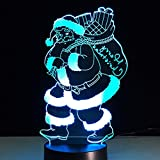 Luces Neon Pared Novely Santa Claus 7 Cambios de Color 3D LED Lights Birthday Gift Christmas