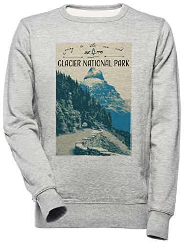 Glacier National Park - Going to The Sun Road - Glacier National Park Unisexe Homme Femme Sweat-Shirt Gris Unisex Men's Women's Jumper