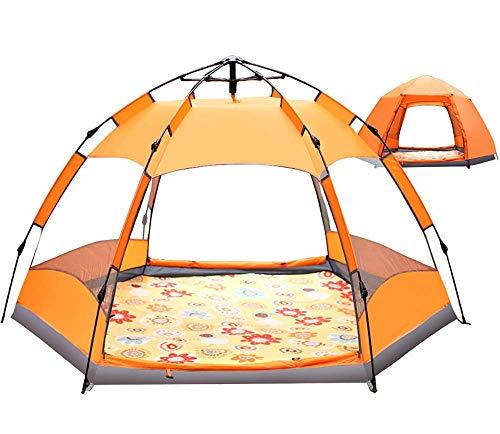 AQWESD Grande Tente de Camping avec Sac à Dos Portable Conception d'installation Rapide Facile instantanée pour 3-4 Personnes 4 Saisons pour Faire de la randonnée et des Voyages