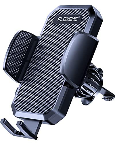 FLOVEME KFZ Handyhalterung Auto Lüftung - Upgrade Handy Halterung Auto Lueftung, 360° Drehbar Handyhalter Auto, PKW Smartphone Halter für iPhone Samsung usw