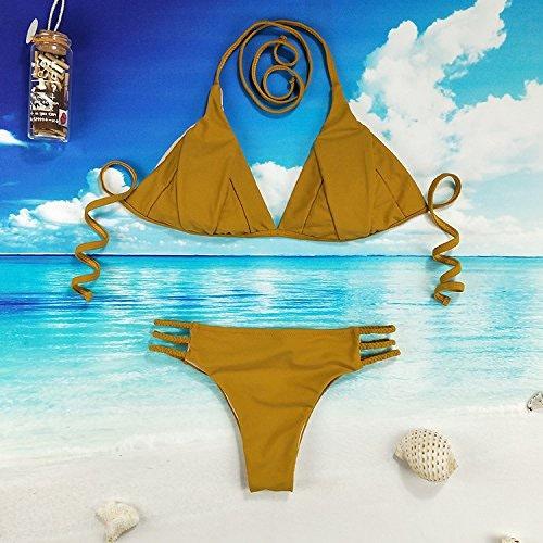 Gyps Femme Bikini Sexy de Bain Bikini à Bretelle Triangle maillot de bain Plage Maillot de Bain Split Maillot de Bain Triangle de Bain Maillot de Bain Triangle, Couleur de l'image, XL