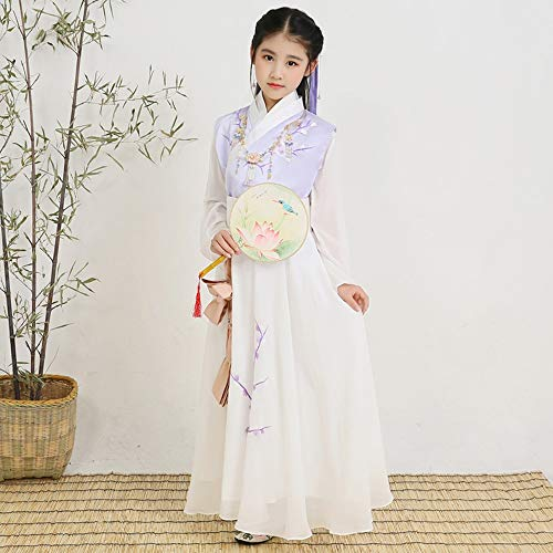 Affordable FXNN Hanfu-Chinese Ancient Costume Hanfu Costumes 120-150cm (Color : White, Size : 120cm)