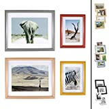Quubik Design Marco de Fotos en Colores otoñales africanos - Juego de 4 Marcos de Fotos tamaños...