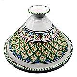 Mobiliário étnico Tagine decorativo terracota marroquina, 32 cm, 3010201202
