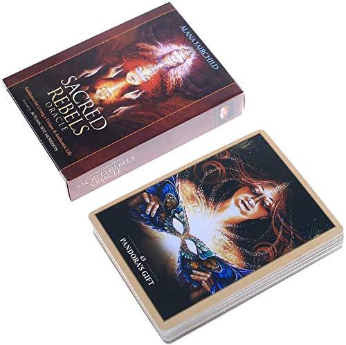 YZHM Heilige Rebels Oracles 45 Karten Brettspiel Divination Englisches Wahrsagerei Tarotkarten Guidance für Wohnen EIN einzigartiges und authentisches Leben