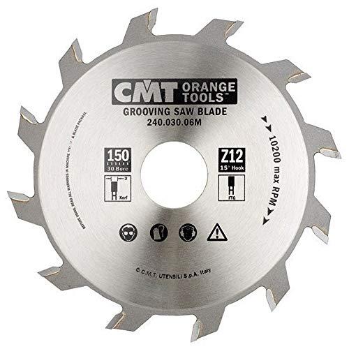 CMT Orange Tools 240.060.07M–Kreissägeblatt für gerade Nutfräser 180x 6x 30Z 18