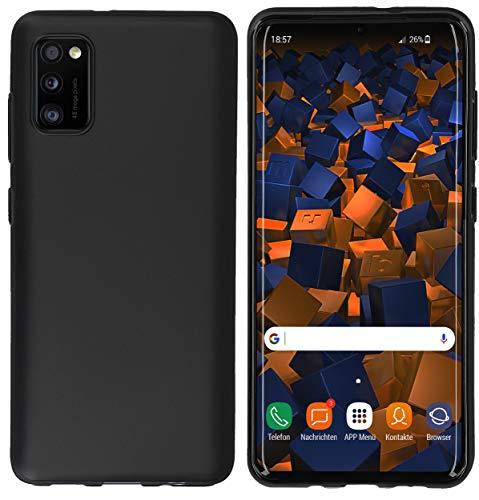 mumbi Hülle kompatibel mit Samsung Galaxy A41 Handy Hülle Handyhülle, schwarz, Black