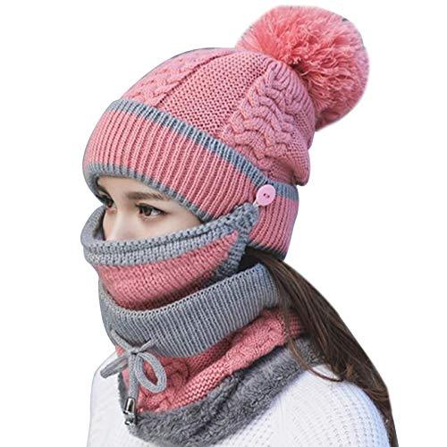 Lfhing - Juego de 3 bufandas de invierno para mujer