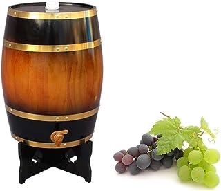 Tonneau à vin en Bois Seau à Whisky en chêne, 15L Vin Rouge Tonneau de chêne Peut être utilisé pour Vinification ou Stocka...