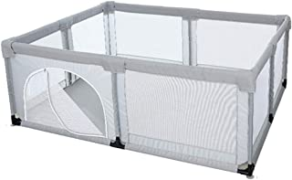 Playpens Gray Kids Baby Play Fence With Breathable Mesh  Safety Toddler Barrier Castle  70cm Tall  Size 200 120 cm